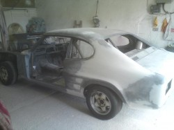 Ford Capri Mk1 Body Shell Being Repaired_90741