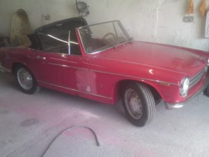 Innocenti Spider, being repaired_29709