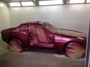 Isetta bubble car bonnet primer