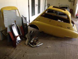 Isetta Bubble Car - Pre-restoration - side shot