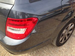 C Class Mercedes dent repair before