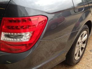 C Class Mercedes dent repair after