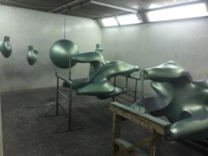 sculpture - spraying booths