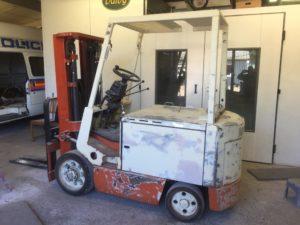 forklift truck respray