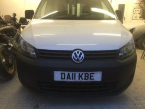vw caddy repair and respray