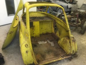 Isetta bubble car restoration in progress 2