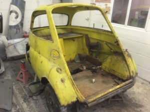 Isetta bubble car restoration in progress