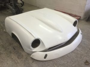 Triumph GT6 bonnet and front valance in progress