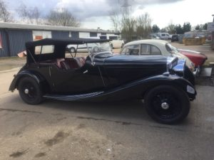 1934 VDP Derby Bentley - bodywork and paintwork restoration