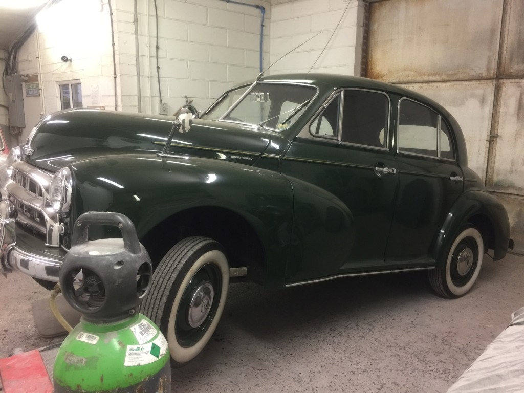 Morris Oxford Chassis Welding