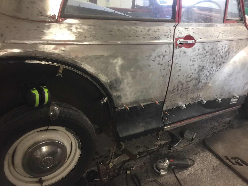 Morris Oxford Chassis Welding Restoration - image 16