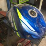Suzuki GSXR750 fuel tank repair and respray Restoration - image 14