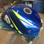 Suzuki GSXR750 fuel tank repair and respray Restoration - image 13