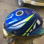 Suzuki GSXR750 fuel tank repair and respray Restoration - image 15