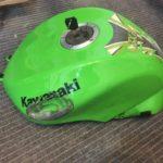 Kawasaki fuel tank repair Restoration - image 19