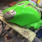 Kawasaki fuel tank repair Restoration - image 18