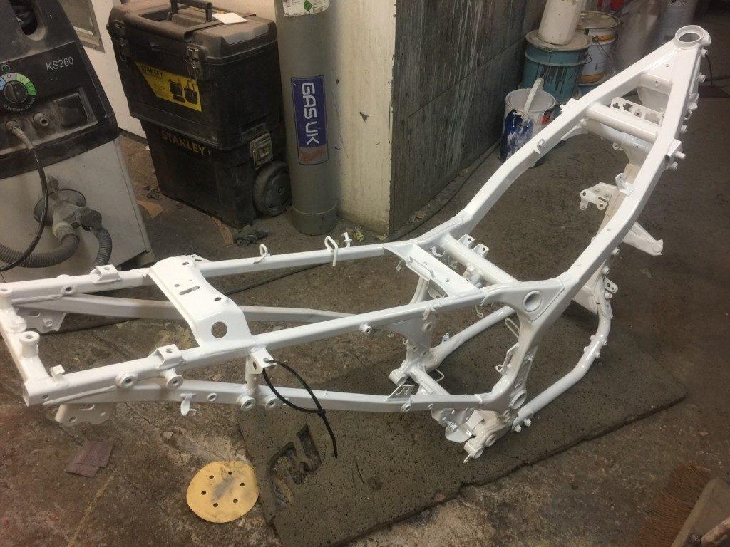 Honda Motorcycle Frame Painted Restoration - image 4