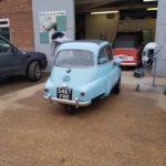 Isetta bubble car respray in progress Restoration - image 46