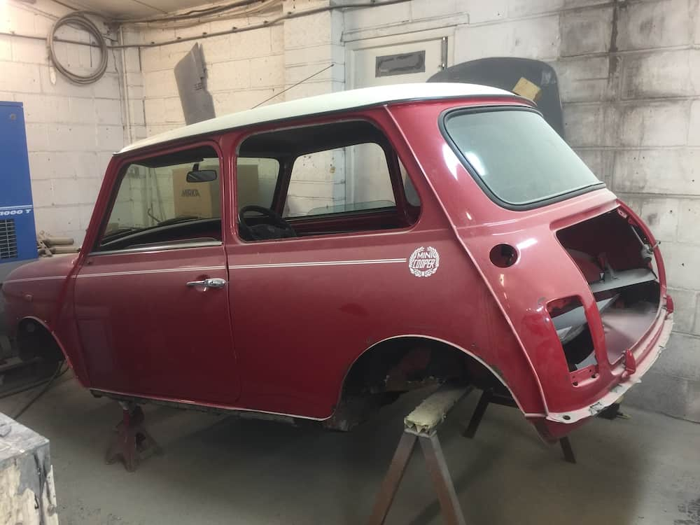 Mini rear end restoration in progress Restoration - image 1