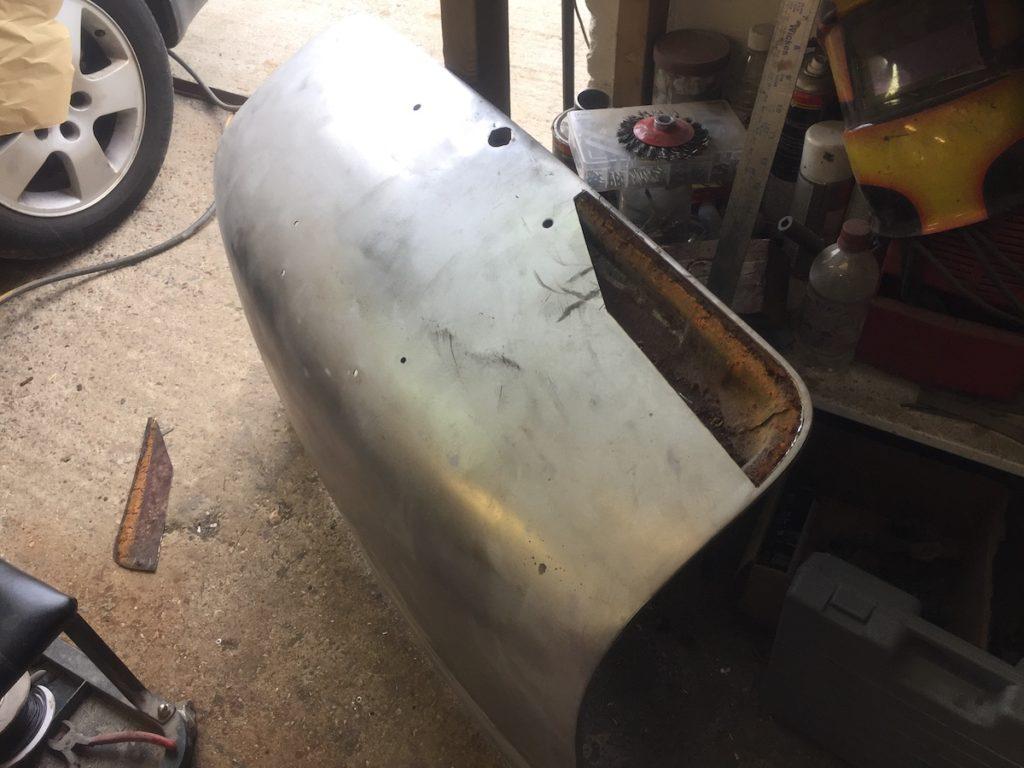 Lancia Appia boot lid restoration in progress Restoration - image 2
