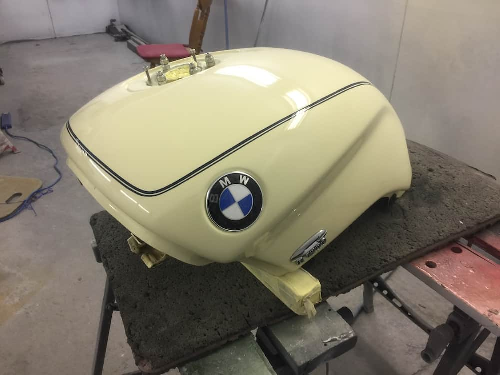 Paintless Dent Removal Cost >> Motorcycle fuel tank repair. 1997 BMW R1200C Restoration ...