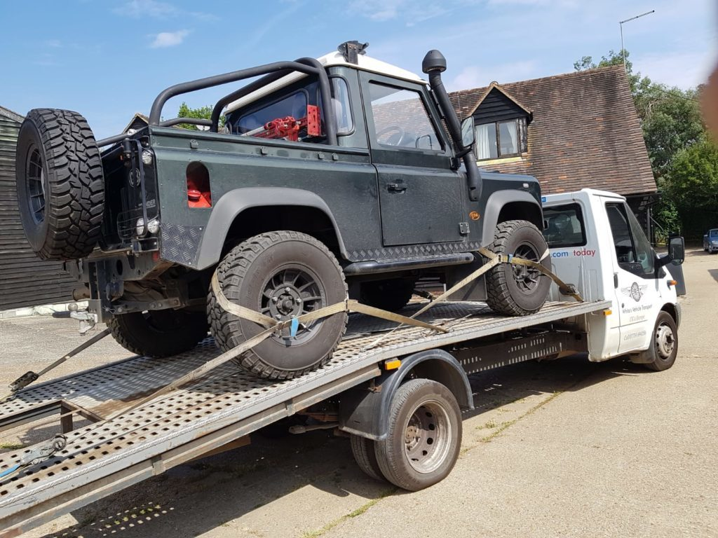 Land Rover Defender Car Transport Restoration
